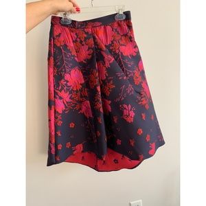 Anthropologie Midi High-Low Skirt Purple Pink